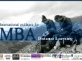 The highly recommended: International Guidance for MBA distance learning
